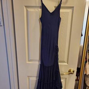 Free People Navy Blue Midi Dress